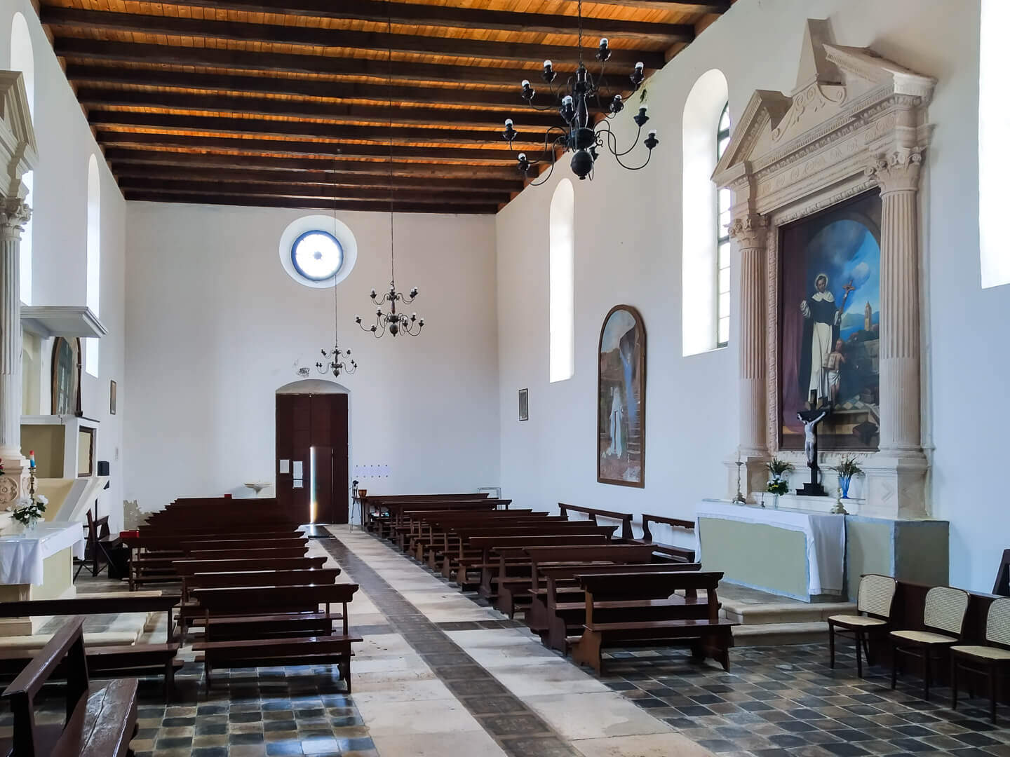 Inside of the Dominican monastery on Lopud island